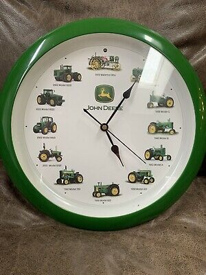 """John Deere 13"""" Tractor Clock Recorded Tractor Sound Different Sounds Each Hour"""