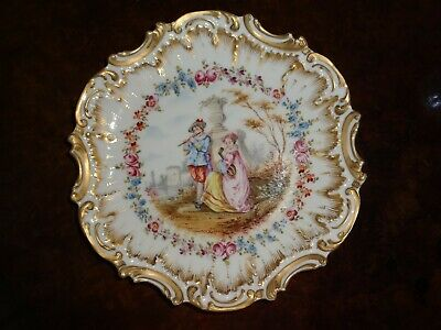 Gorgeous  Antique Cabinet Plate Music Limoges  Sevres France Germany