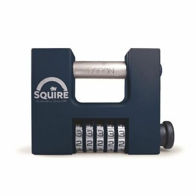 Squire CBW85 Combination Lock, 5 wheel, Set your own code, Boron Steel shackle