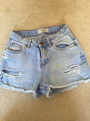 Girls New Look 915 Generation Distressed Look Denim Shorts Age 12 152
