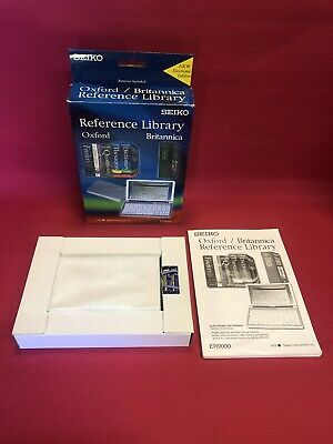 SEIKO ER-9000 Oxford Britannica Handheld Electronic Reference Library MINT NEW