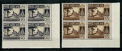 Vaticano - 1954 San Francesco D'assisi - Quartine**  Mnh