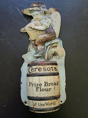 Antique Ceresota Advertisement Tin Match Holder