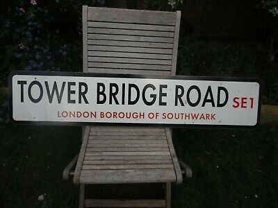 Original London Street Sign Tower Bridge Road Se1 Bermondsey Tower Of London