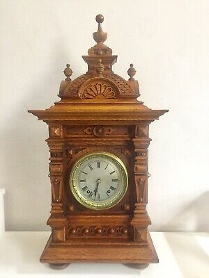 Antique Beautiful Black Forest Architectural Huge Bracket Clock By W&H  C1890.