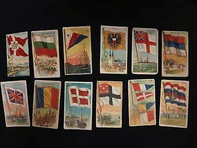 Recruit Cigars, Flags Of All Nations Cards X12. Mixed Lot