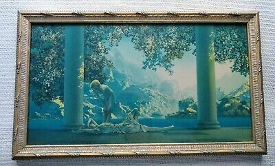 Antique MAXFIELD PARRISH Daybreak Chromolithograph, House of Art NY Print