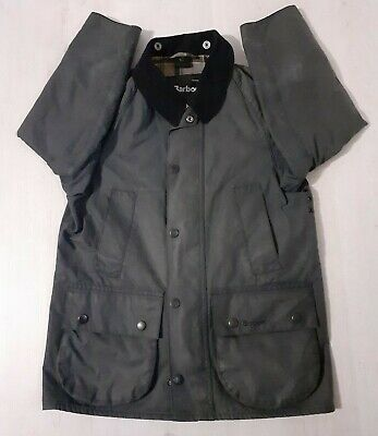 Boys Barbour Classic Beaufort Wax Cotton Jacket Size M Age 8-9 Years