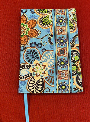 Vera Bradley Blue Green Brown Floral Paperback Book Cover 5 x 7.5 NWT