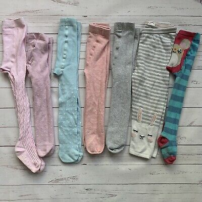 Baby Girls 12-24 Months 1-2 Years Tights Bundle M&S JOHN LEWIS FRUGI Pink Grey