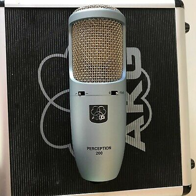 AKG Perception 200 Condenser Microphone with shock mount and case