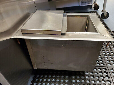 Ice Bin & Lid Insulated Counter Top Stainless Steel