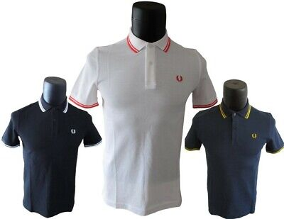 Fred Perry Poloshirt M12 Twin Tipped Regular Fit in 3. Farben S M L XL 2XL