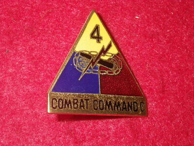 KW - 1950s 4th Armored Division -Combat Command C  DI, NHM, German-made, CB