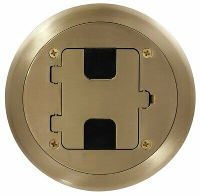 Bryant Electric RF406BP Floor Box Kit, Brass