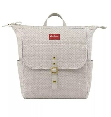 Brand New Cath Kidston Pale Nude Shadow Flowers Matt Canvas Backpack RRP £85