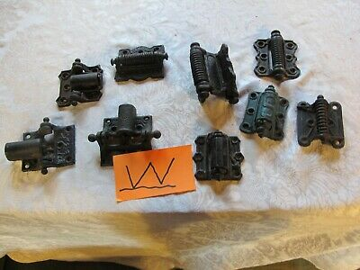 Ant./Vtg. Spring Loaded Hinges 9 Pcs. Assorted.  LOT W