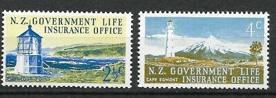 New Zealand 1969 Life Insurance SC OY44, OY46 MNH