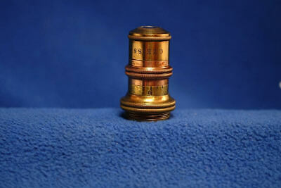 Zeiss a* Variable Power Microscope Objective in Brass Container Antique