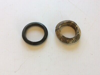 Pair Of Old Antique African Tribal Stone Bracelets Jewelry