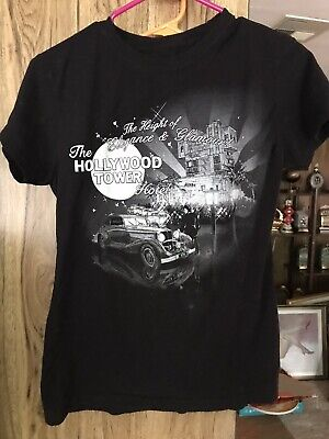 Womens 2004 Tower of Terror shirt The Height of Elegance & Glamour Black size XL