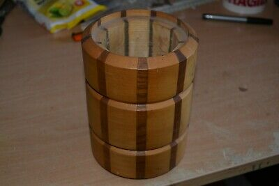 Turned Wooden Pot - Ideal for Pencils Etc - Made in England - #PW