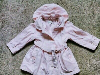 Pretty Girls pink Summer Jacket with detachable hood. Age 3-4