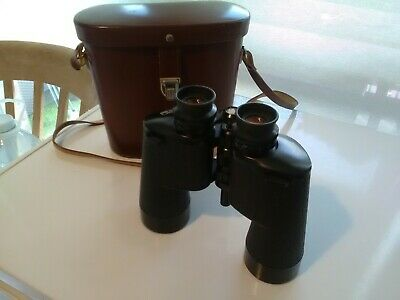 Carl Zeiss Jena Dodecarem 12 x 50 B  Binoculars Vintage in original leather case
