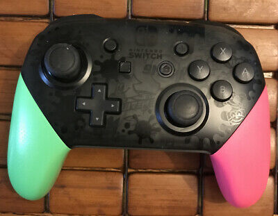 Nintendo Switch Pro Controller - Splatoon 2 edition  official pink green