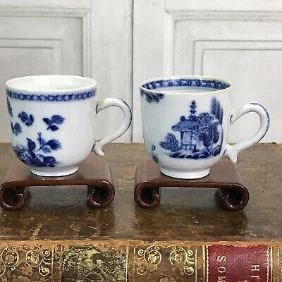 TWO C18th Chinese Export Porcelain Coffee Cups.