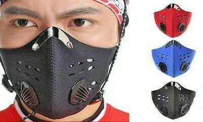 Face Mask With Filter Dual Valve Cycling Sports Running Biking High Quality Mask