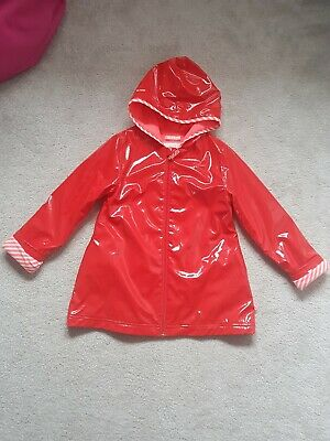 Billieblush Girls Age 8 Red&Bright Pink Neon Rain Coat Max Fleece Lined