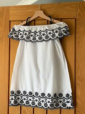 Girls River Island White And Black Summer Dress Age 8