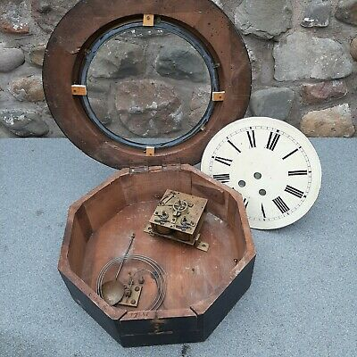Vintage French Gve Rey Jne Brevette Wall Clock for spares or repair.