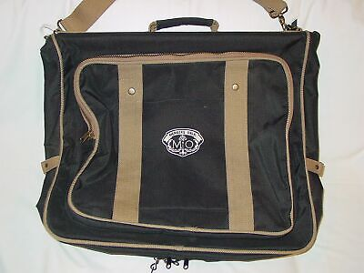Members Only Travel Garment Bag Luggage Fold Over Zippered Pockets Hanger Clips