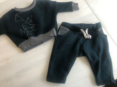 Baby Boys River Island Tracksuit. Age 0-3 Months.