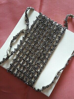 antique marcasite style beaded dress trim 8ft 6""