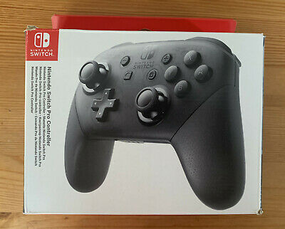 Official Nintendo Switch Pro Controller - Black (Standard Edition) - boxed