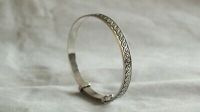 Solid Silver Bangle Christening/New Baby gift Birmingham 1979 by Joseph Smith