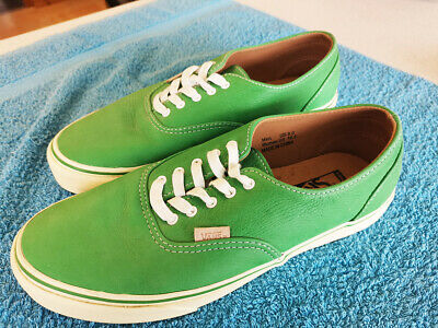Vans Mens skate shoes, Very Rare Real Leather. Size Uk 8 (EU 42), Green