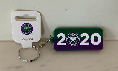 New WT Wimbledon 2020 Official Product Rubber Keyring