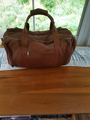 Leather Duffel Bag, Soft Supple Caramel Leather, NOT Imitation