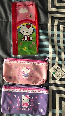Hello Kitty Pencil cases - Lot of 3