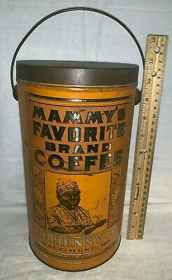 Antique Mammy's Favorite Coffee Tin Litho 3Lb Can Baltimore Md Black Americana