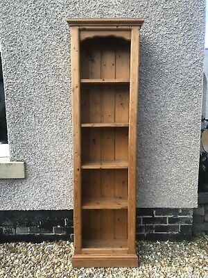 Tall narrow pine bookcase