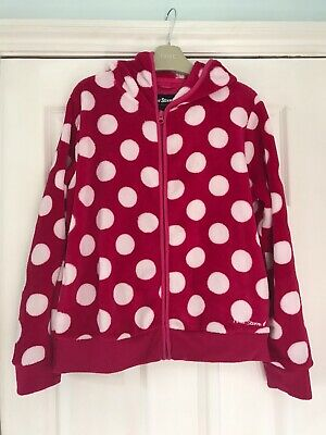 Peter Storm Hooded Jacket 11-12yrs Pink & White Polka Dot
