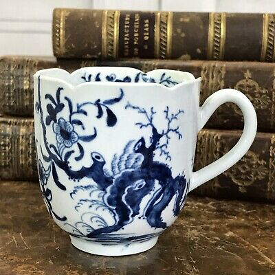 Early Worcester Porcelain Coffee Cup, circa 1760.