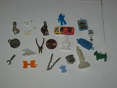 Cracker Jack & Other Prize Lot, Miniature Plastic Pieces With Some Metal