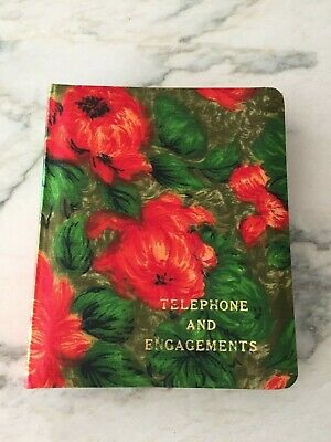 Vintage 70s Flower Power Telephone And Address Book Made In Japan