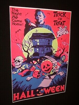 HALLOWEEN Poster movie haunted house horror scary thriller Michael Meyer c